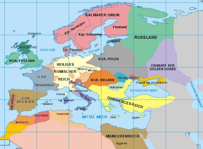 Map Of Europe 1500 Design Templates