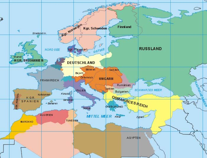 Blank Map Of Europe - Us map in 1900
