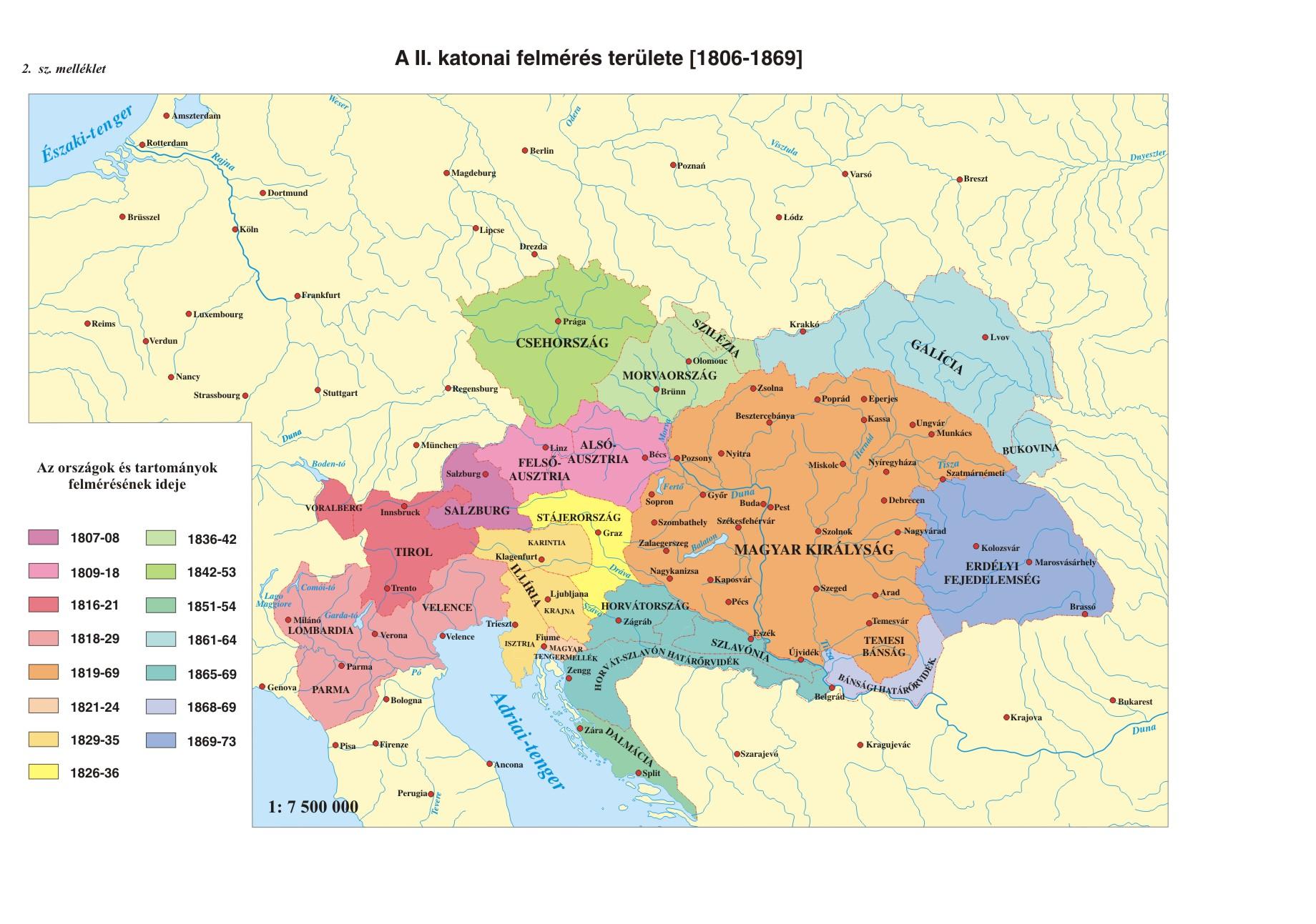 magyarország térkép 1864 ben Kovacs Aniko   diplomamunka magyarország térkép 1864 ben