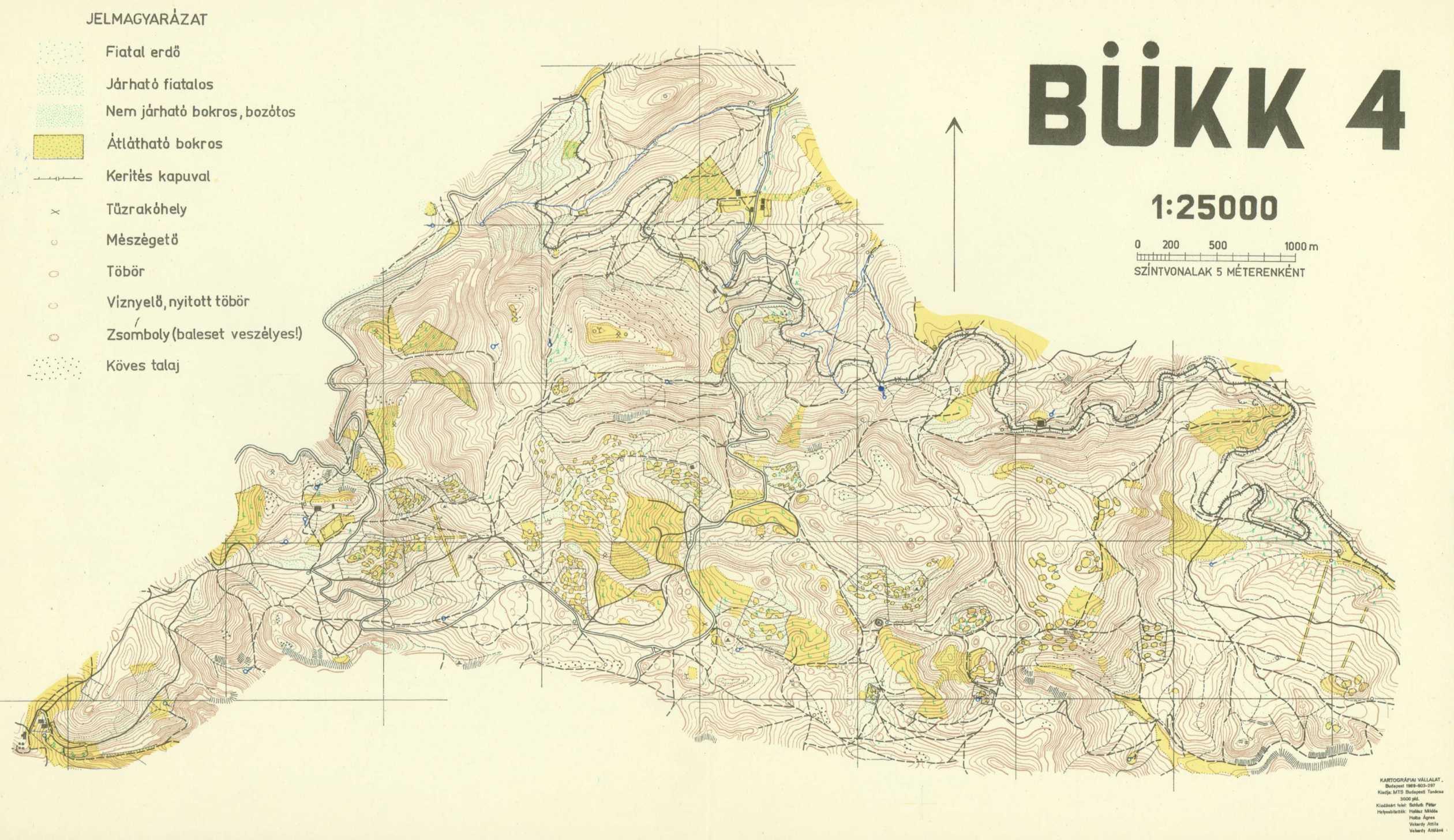 bükk domborzati térkép Vereszki Tibor: A tájékozódási futó térképek története (2001) bükk domborzati térkép