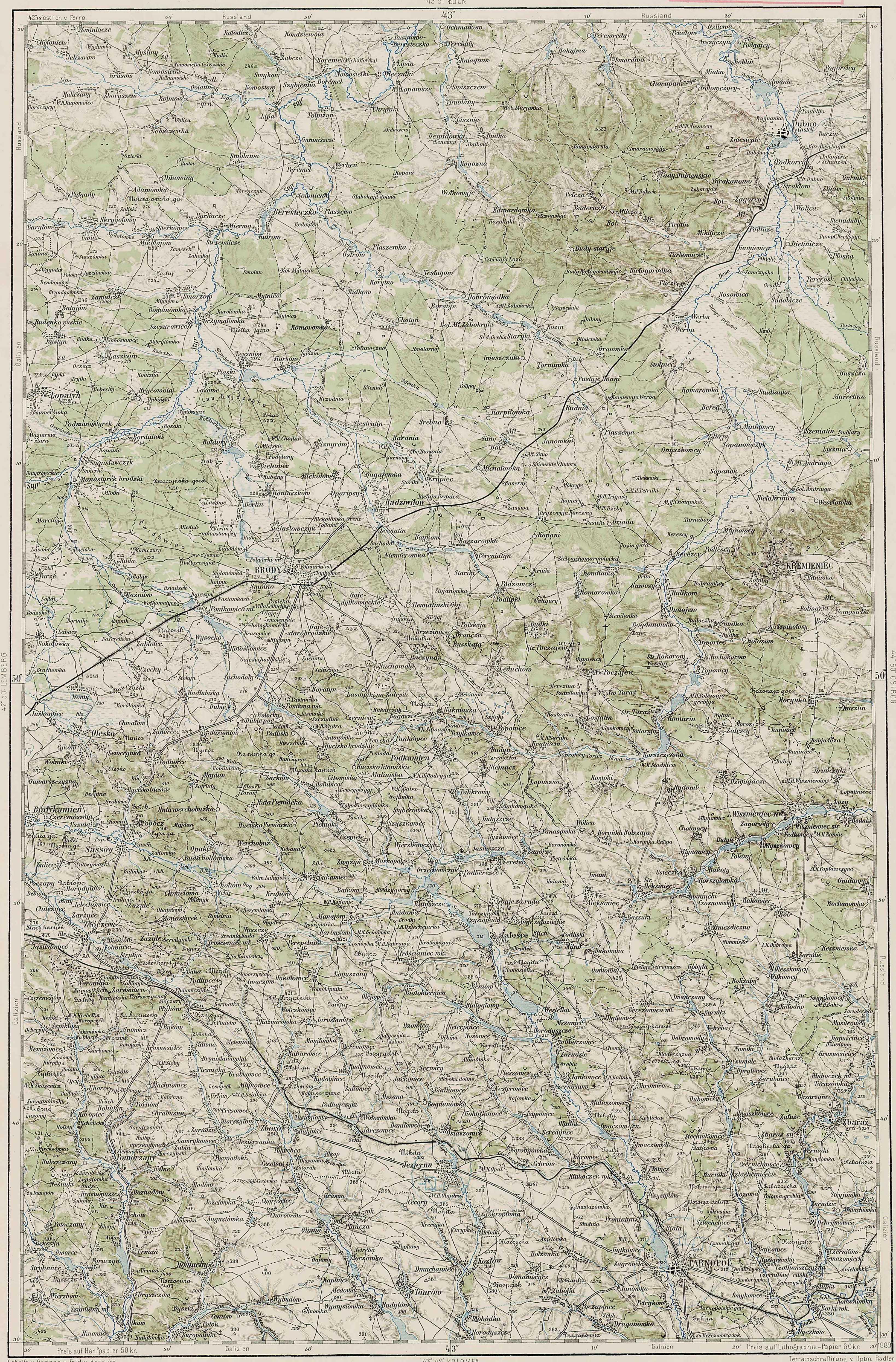 Que signifie la présence de ce nom sur cette carte 43-50