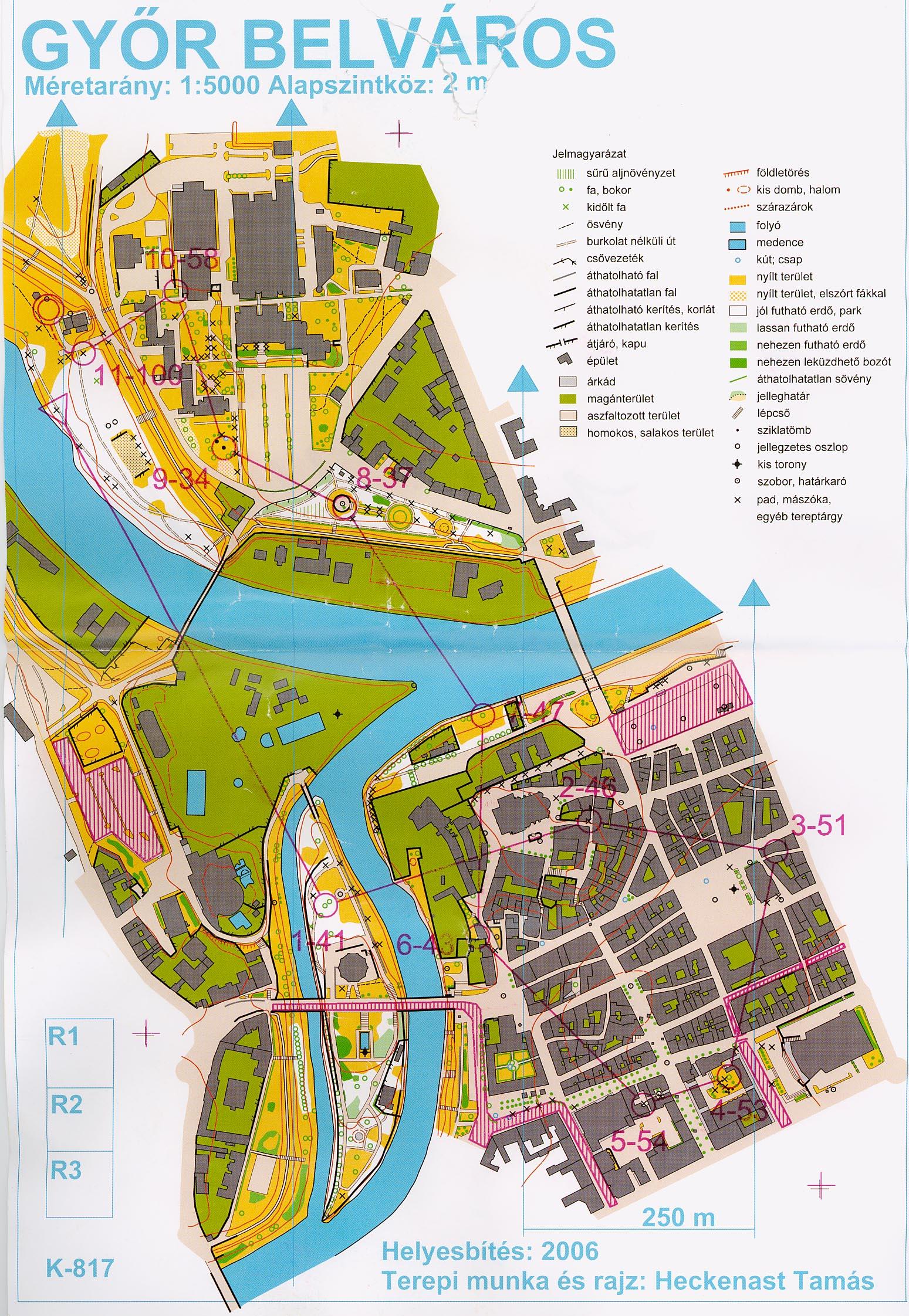 győr belváros térkép Zentai Laszlo tajfuto multjarol (2006) győr belváros térkép