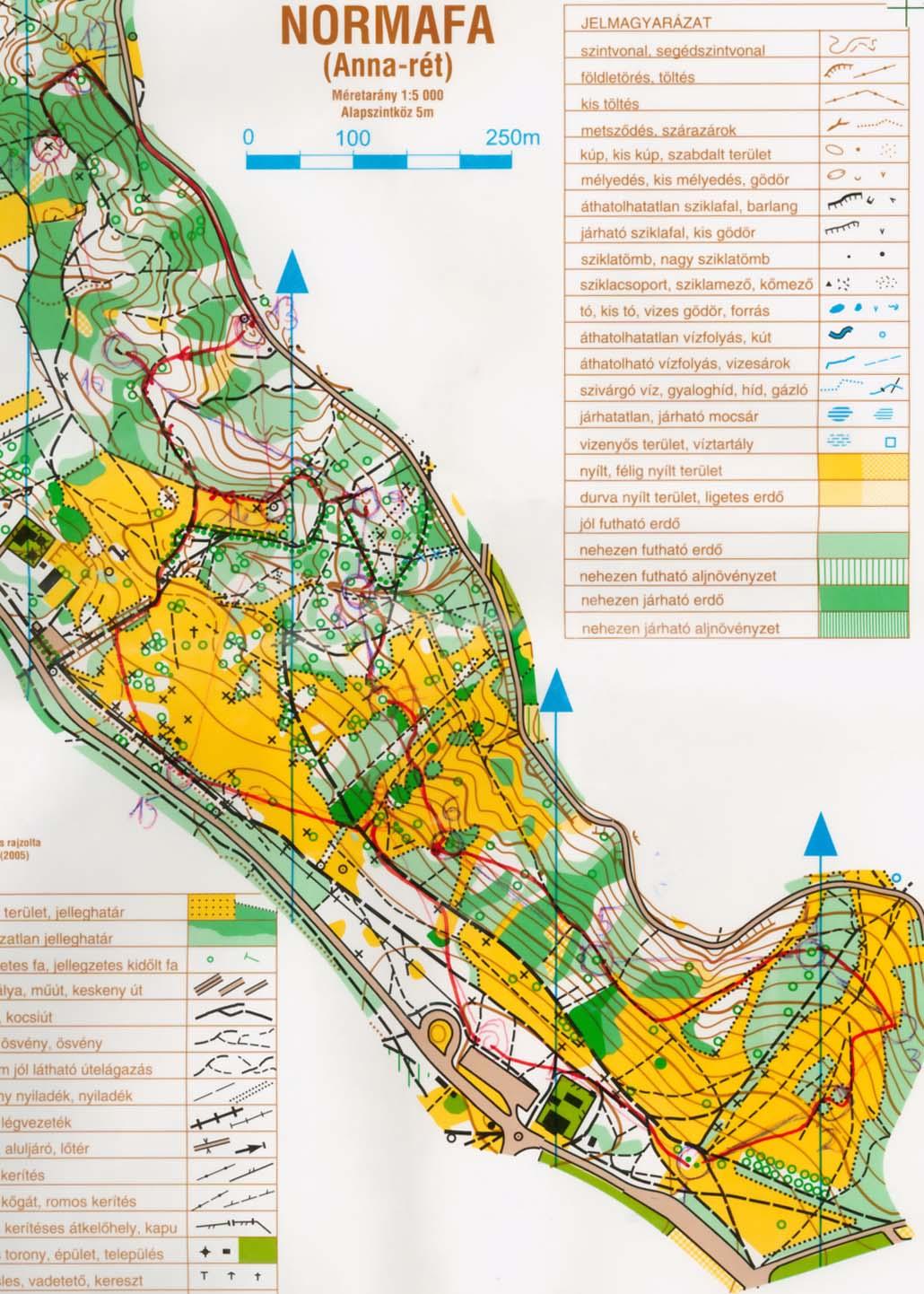 normafa térkép Zentai Laszlo tajfuto multjarol (2006) normafa térkép