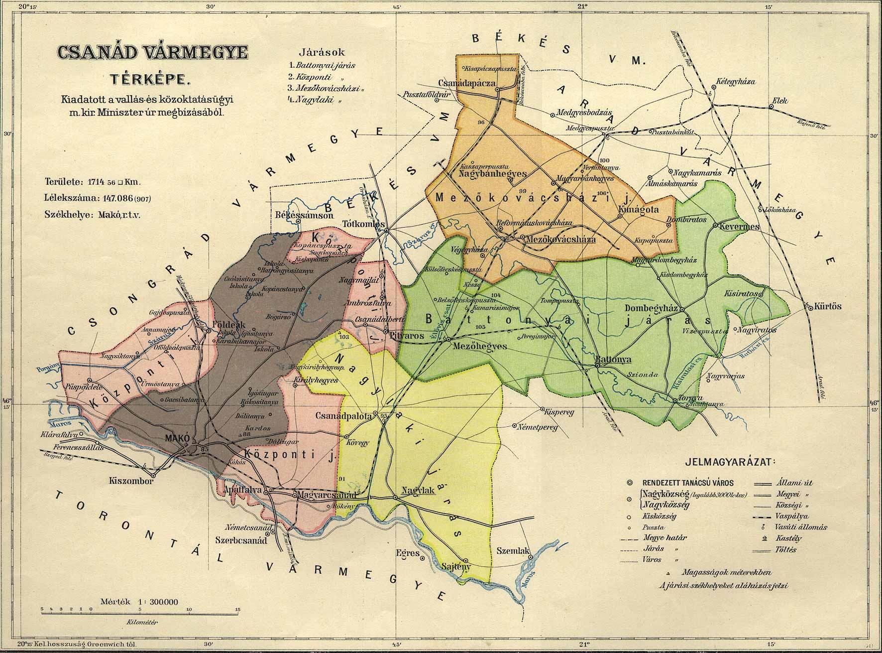 vármegyék térkép Osztrák Magyar Monarchia varmegyei (1910)