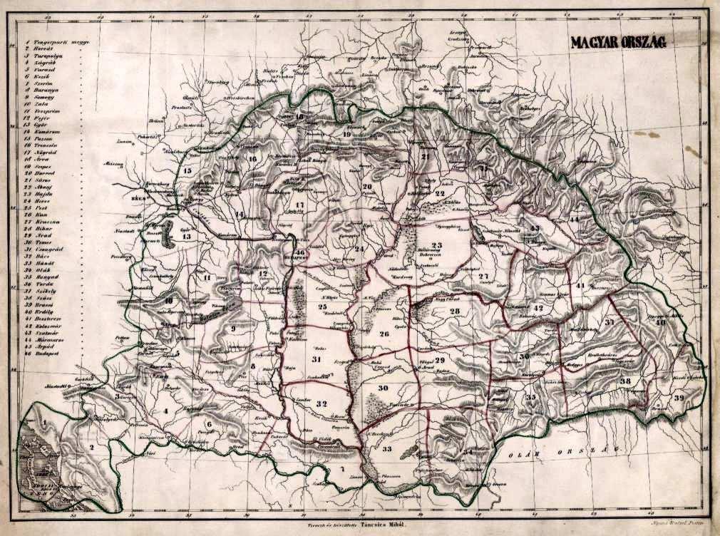 1848 magyarország térkép Magyarország a térképeken English version A 19. század térképei  1848 magyarország térkép