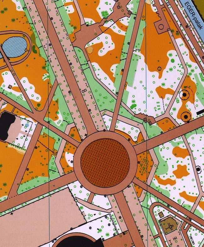 eger érsekkert térkép Hungarian O maps (1997) eger érsekkert térkép