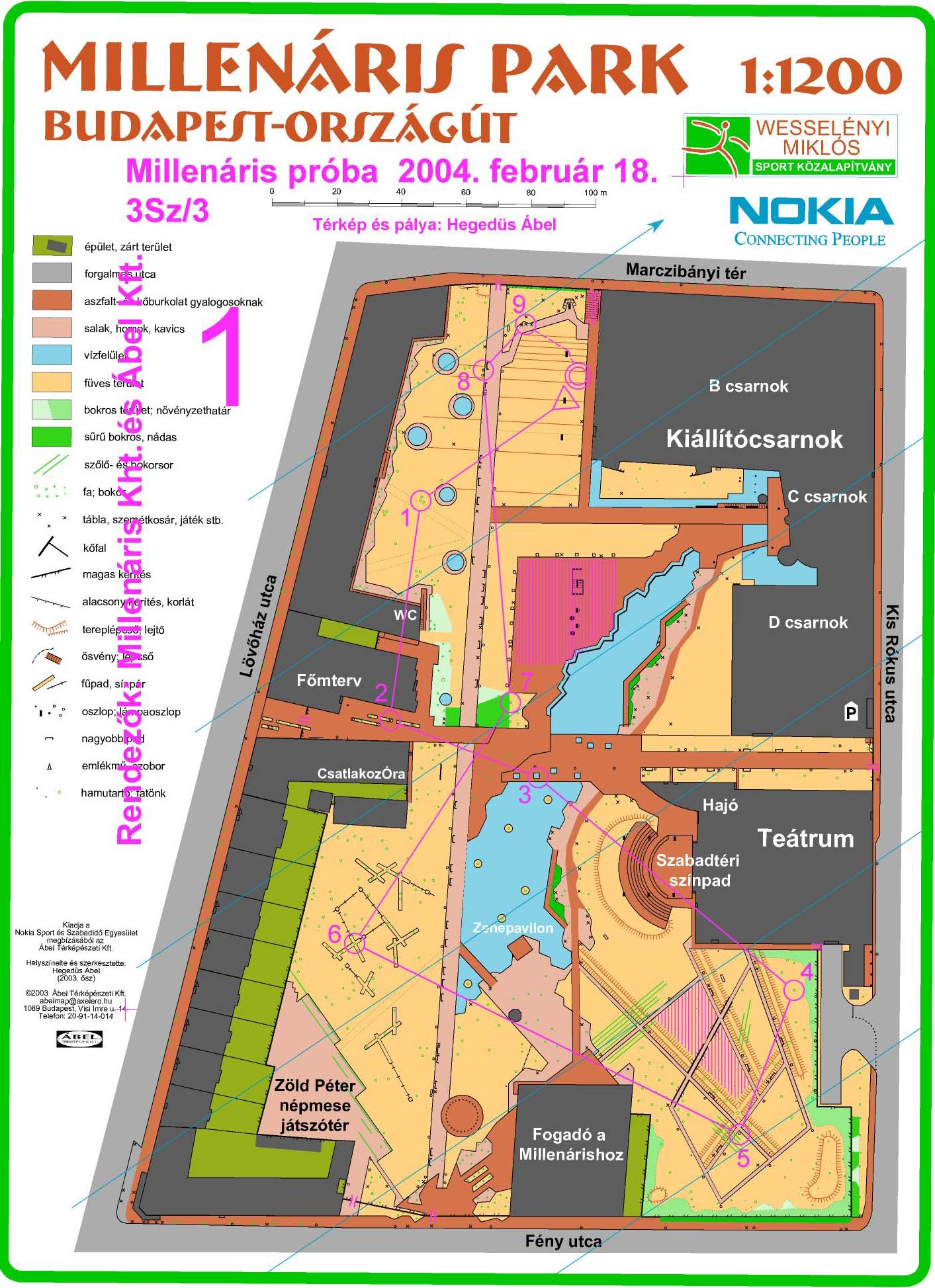 millenáris park budapest térkép 3Sz   2004 millenáris park budapest térkép