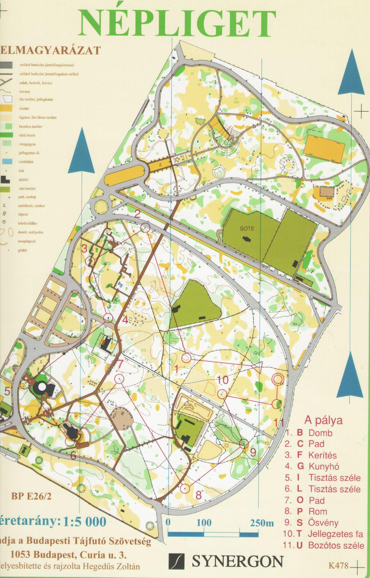 népliget térkép 3Sz   2004 népliget térkép