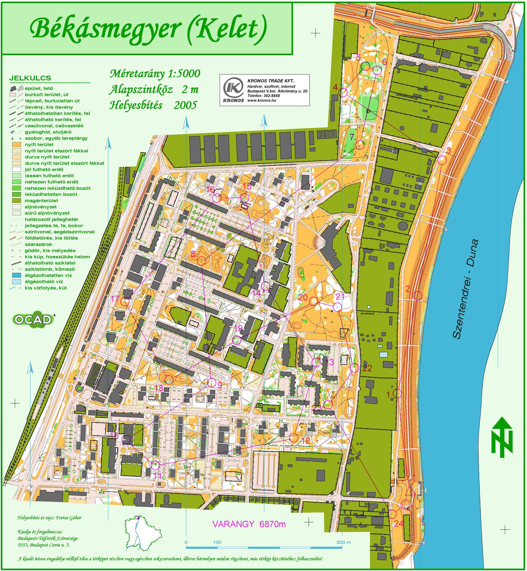 békásmegyer térkép 3Sz   2005 békásmegyer térkép