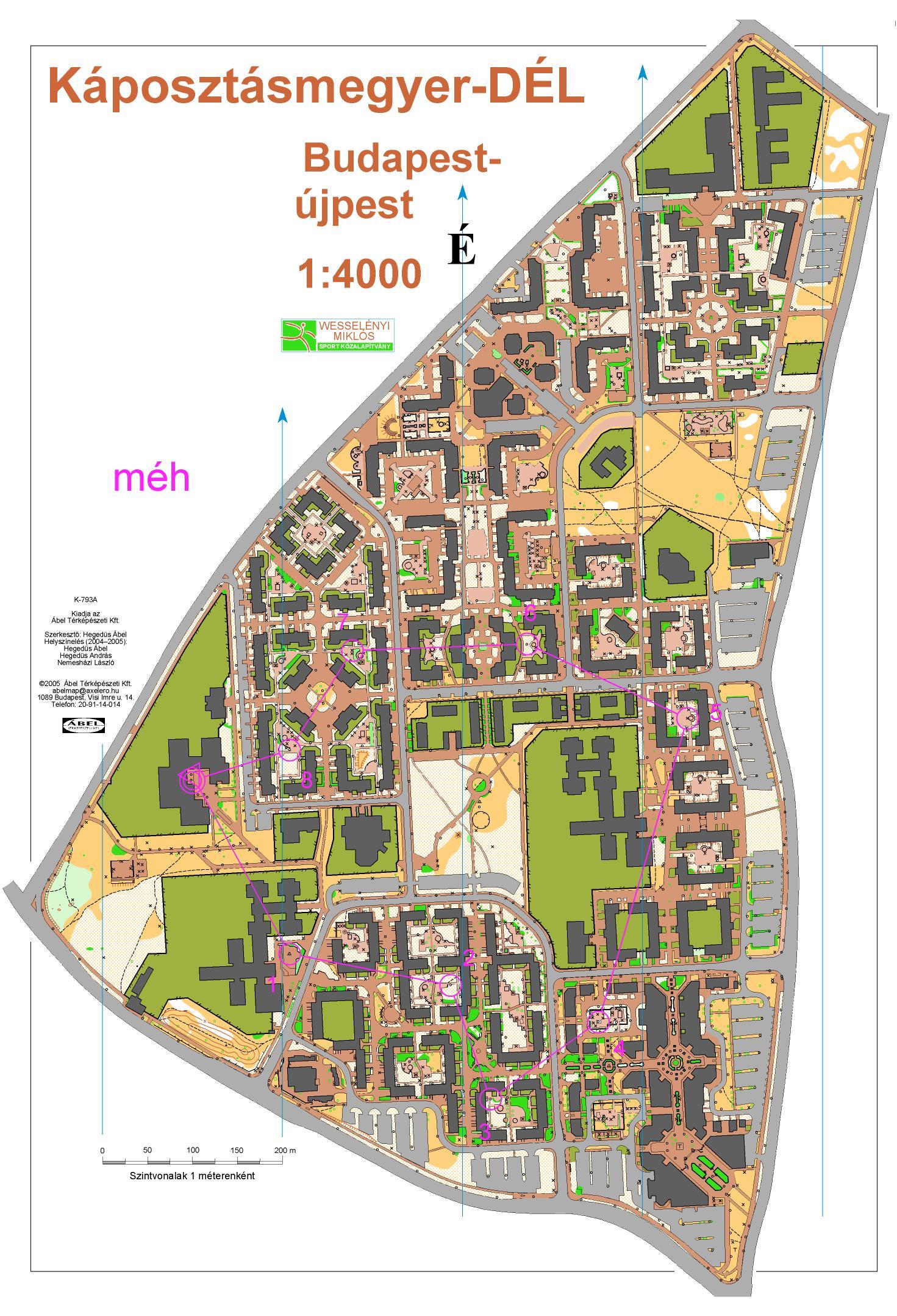 káposztásmegyer térkép 3Sz   2006